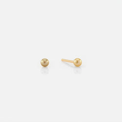 Natural Pearl Stud Earrings in Yellow Gold - Al Zain Jewellery