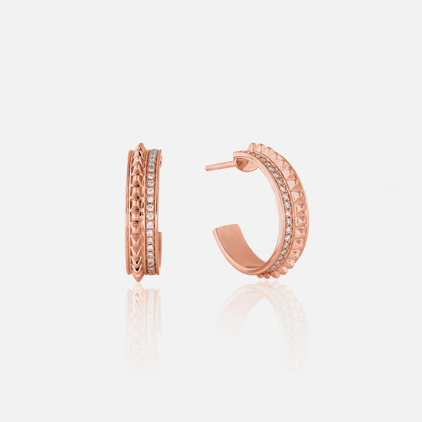 18k Hab El Hayl Evolution Earrings in Rose Gold with Diamonds