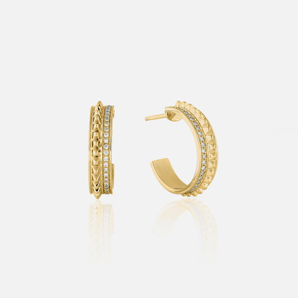 18k Hab El Hayl Evolution Earrings in Yellow Gold with Diamonds
