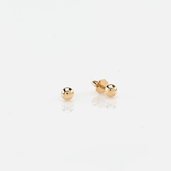Kids Stud Earrings in Yellow Gold - Al Zain Jewellery