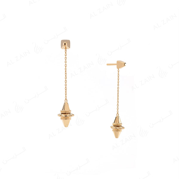 Hab El Hayl Earrings in Yellow Gold