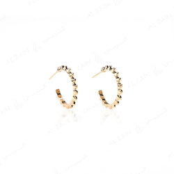 Hab El Hayl Hoop Earrings in Yellow Gold - Al Zain Jewellery