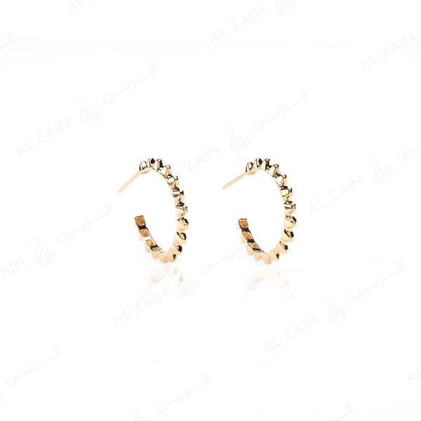 Hab El Hayl Hoop Earrings in Yellow Gold