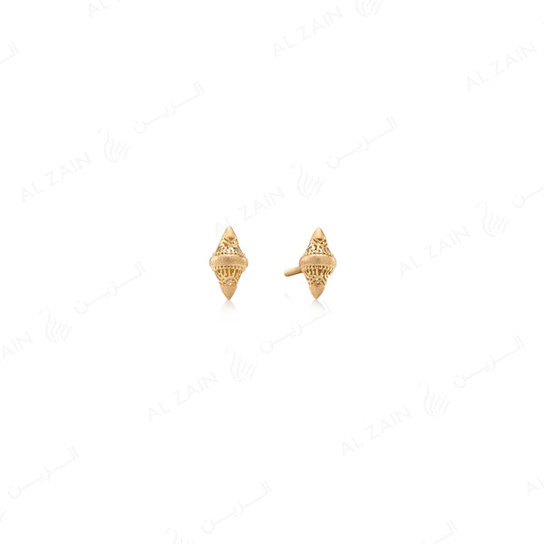 Al Merriyah Small Earrings in Yellow Gold - Al Zain Jewellery