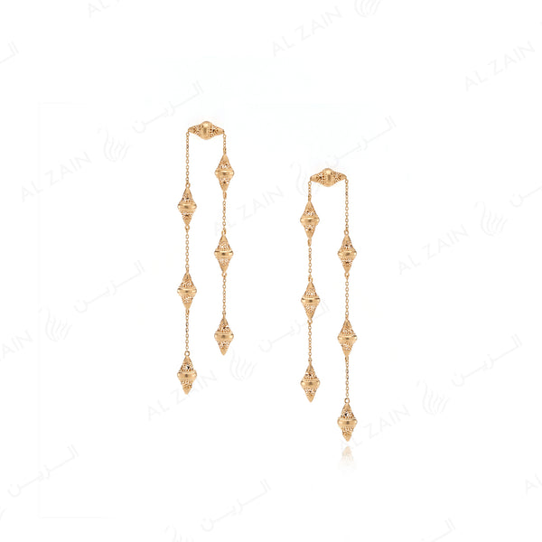 Al Merriyah Earrings in Yellow Gold - Al Zain Jewellery