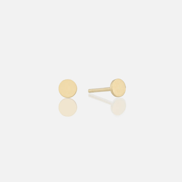 Kids Stud Earrings in Yellow Gold
