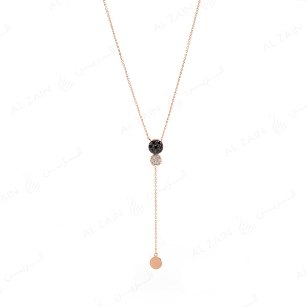 Rose Gold Dusk till Dawn Necklace with Diamonds - Al Zain Jewellery