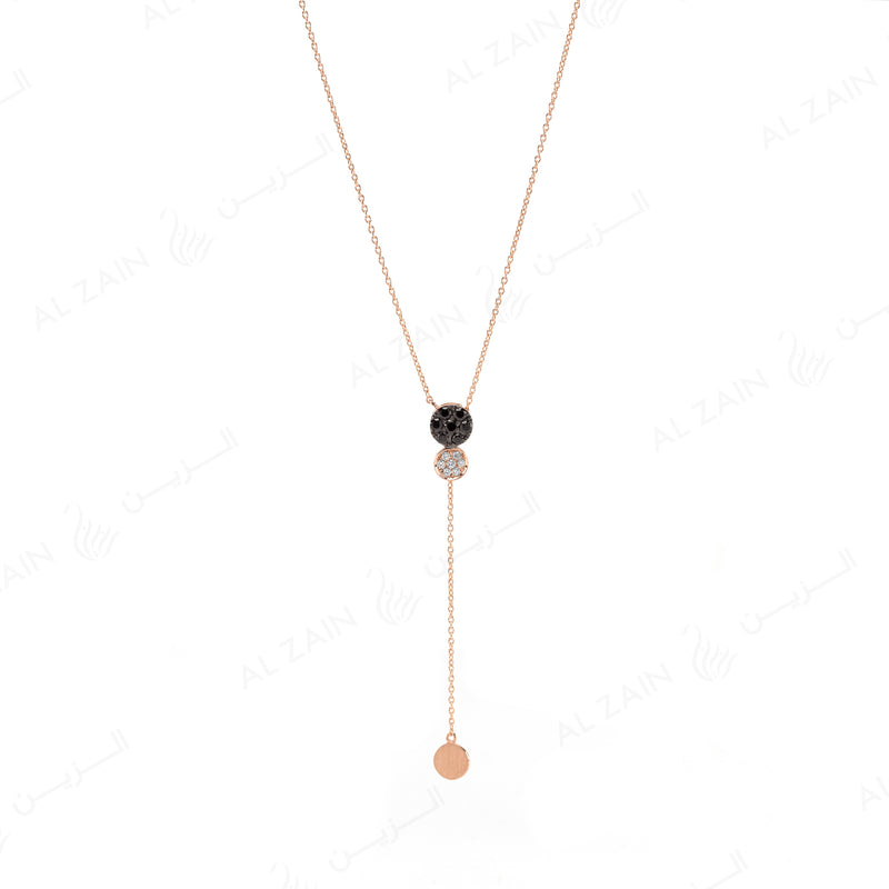 Rose Gold Dusk till Dawn Necklace with Diamonds