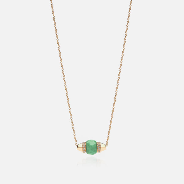 Ruby & Friends Necklace in Yellow Gold with Jade & Diamonds