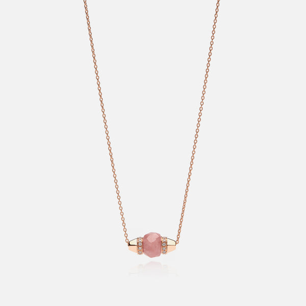 Ruby & Friends Necklace in Rose Gold with Yamanasate & Diamonds - Al Zain Jewellery