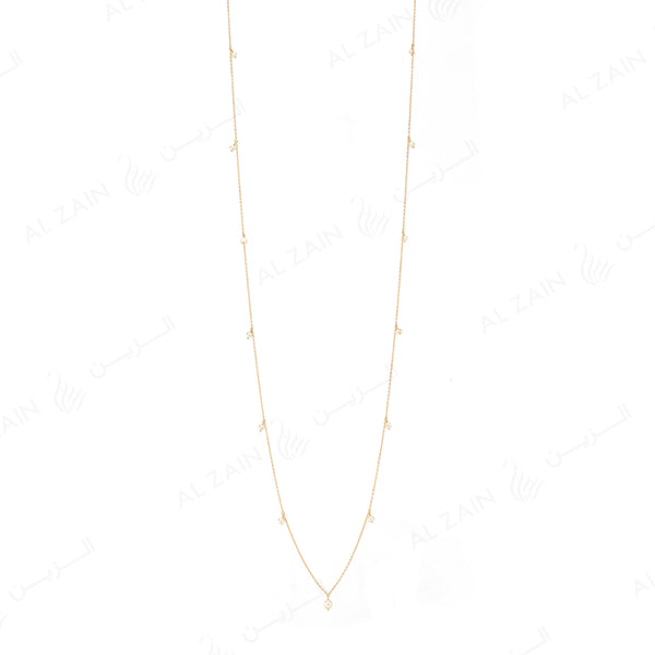 Natural Pearl Necklace in Yellow Gold