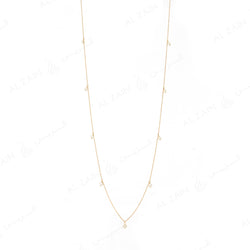 Natural Pearls Necklace in Yellow Gold