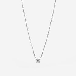 Copy of 18k Solitaire Necklace in White Gold - Al Zain Jewellery