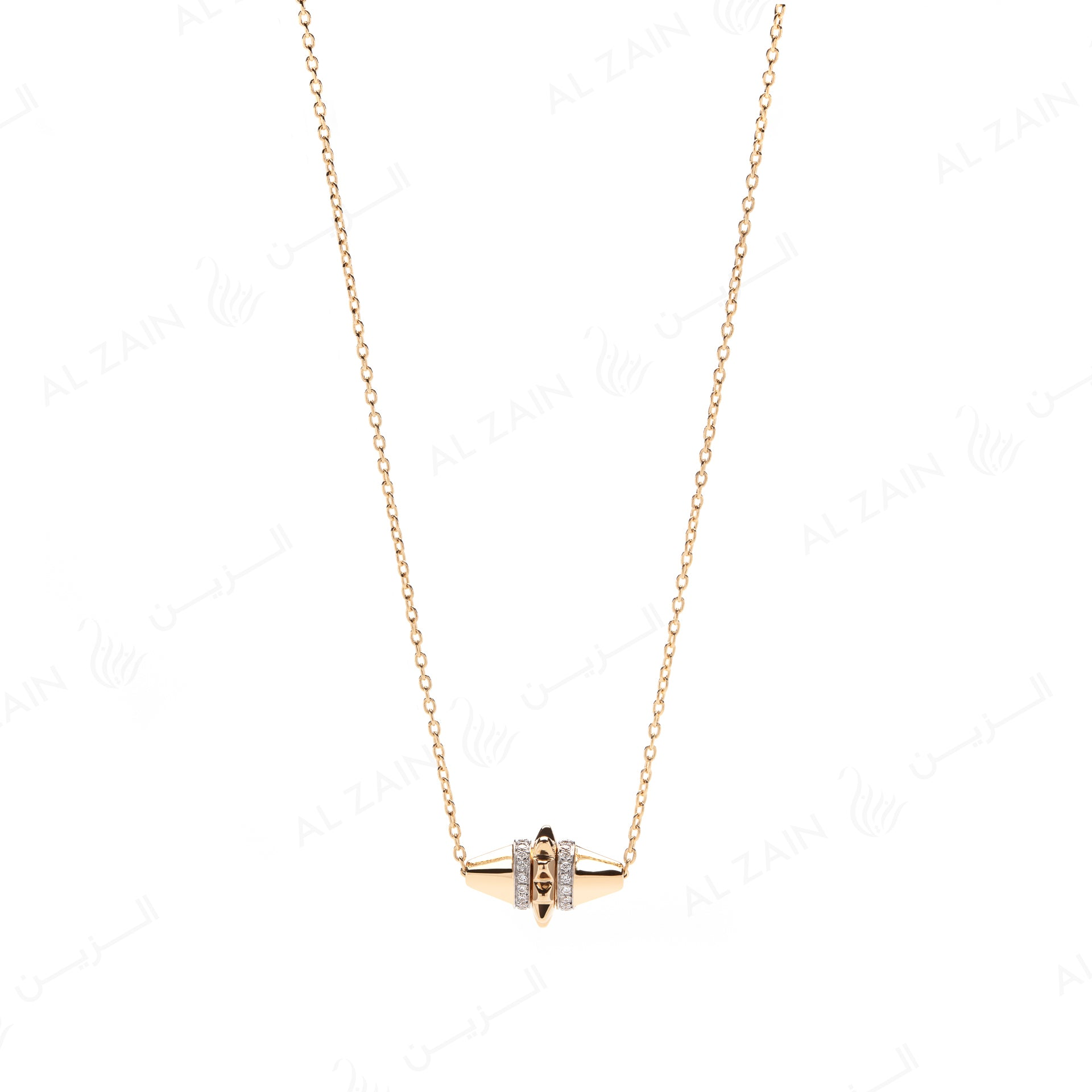 Hab El Hayl Necklace in Yellow Gold with Diamonds - Al Zain Jewellery