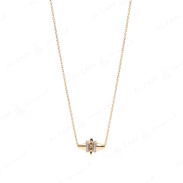 Hab El Hayl Necklace in Yellow Gold with Diamonds