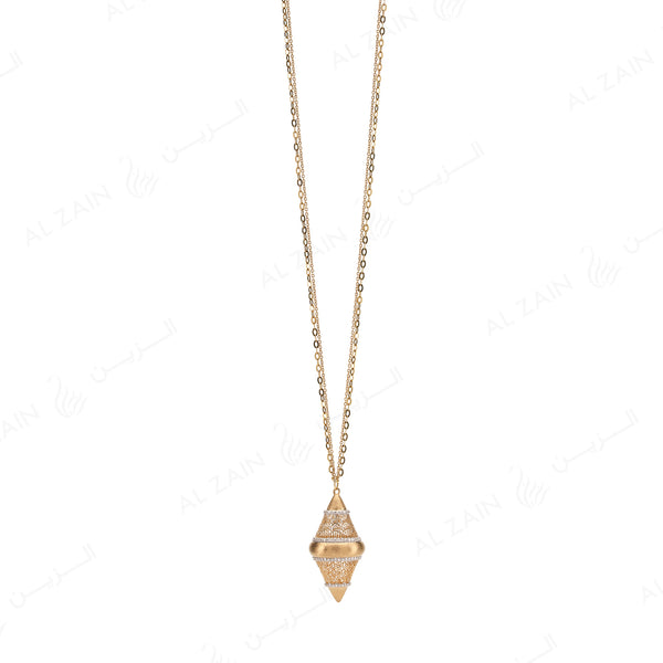 Al Merriyah Necklace in Yellow Gold with Diamonds