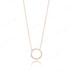 Hab El Hayl 2nd Edition Necklace in Rose Gold with Diamond - Al Zain Jewellery