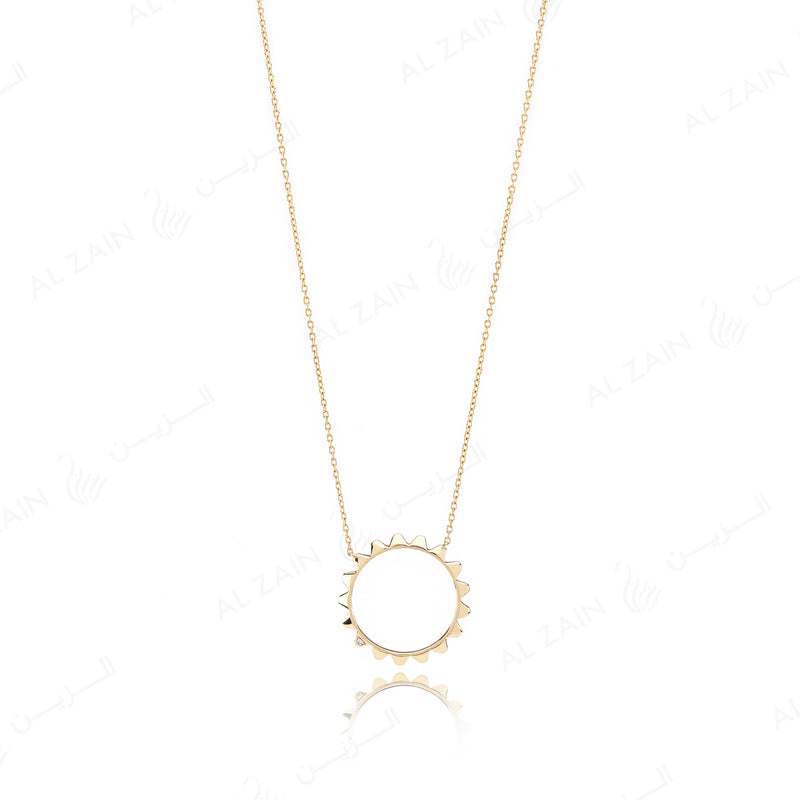 Hab El Hayl 2nd Edition Necklace in Yellow Gold with Diamond - Al Zain Jewellery