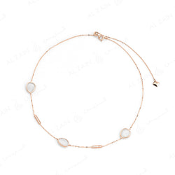 Simply Nina choker in 18k rose gold with Mother of Pearl stones and diamonds