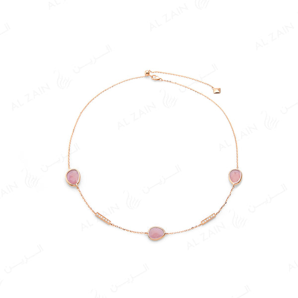 Simply Nina choker in 18k rose gold with Opal stones and diamonds