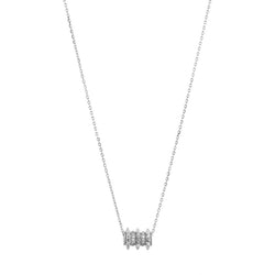 18k Hab El Hayl Evolution Necklace in White Gold with Diamonds - Al Zain Jewellery