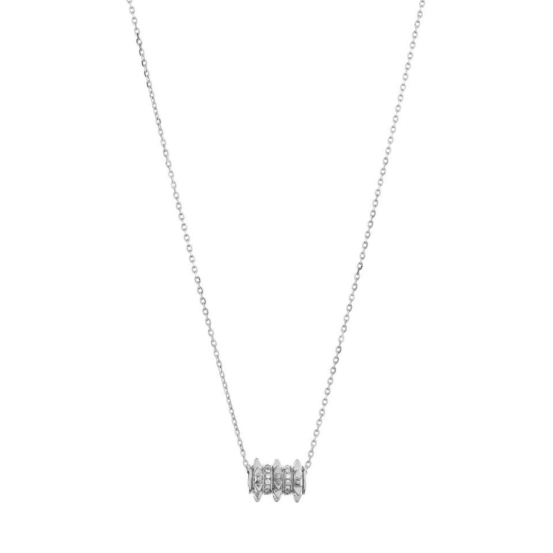 18k Hab El Hayl Evolution Necklace in White Gold with Diamonds