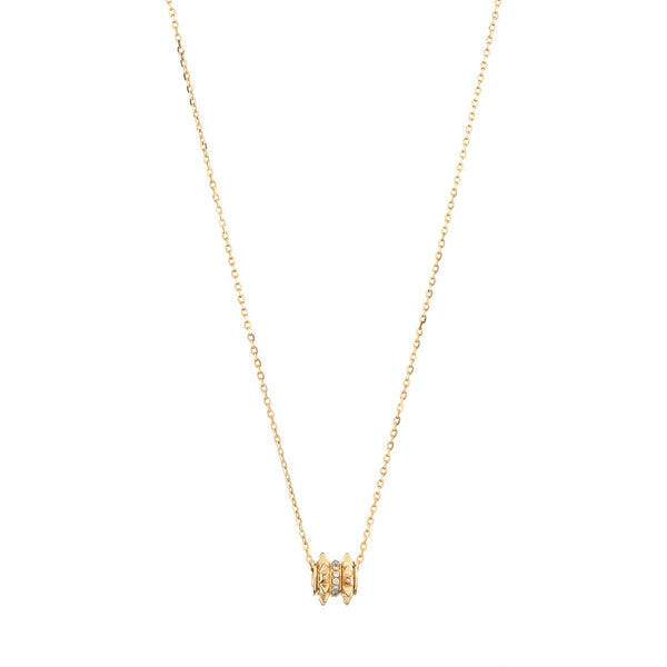 18k Hab El Hayl Evolution Necklace in Yellow Gold with Diamonds - Al Zain Jewellery