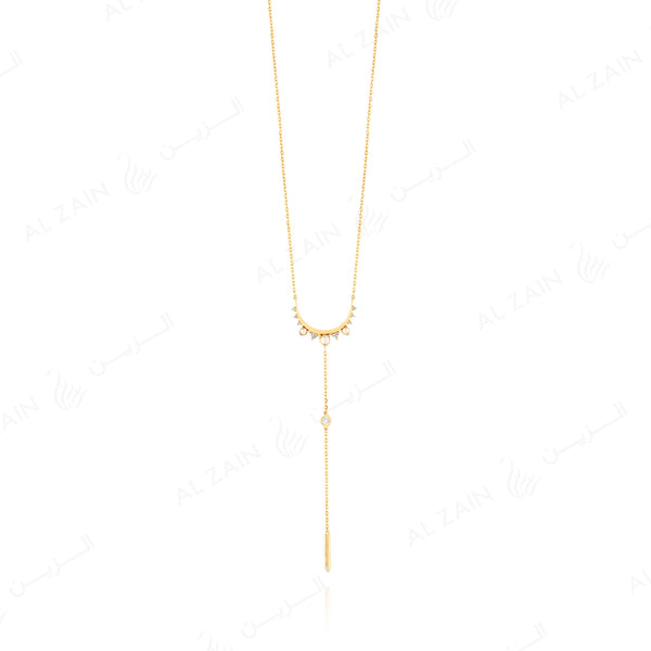 Melati necklace in Yellow Gold with Diamonds and Pearls