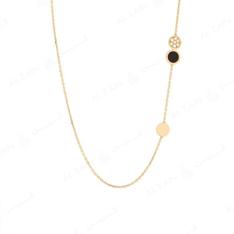 Yellow Gold Dusk till Dawn Choker with Diamonds