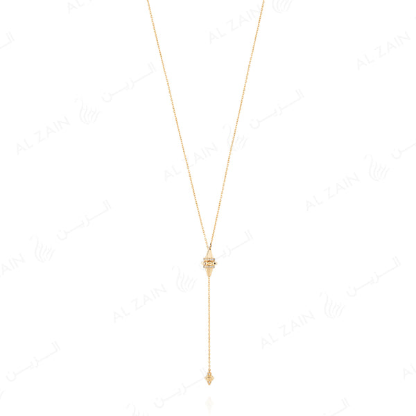 18k Hab El Hayl Origins Adjustable Necklace in Yellow Gold with Diamonds