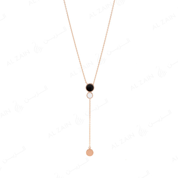Rose Gold Dusk till Dawn Necklace with Enamel - Al Zain Jewellery