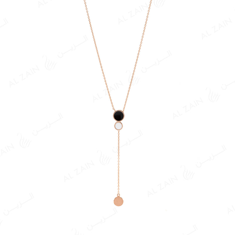 Rose Gold Dusk till Dawn Necklace with Enamel