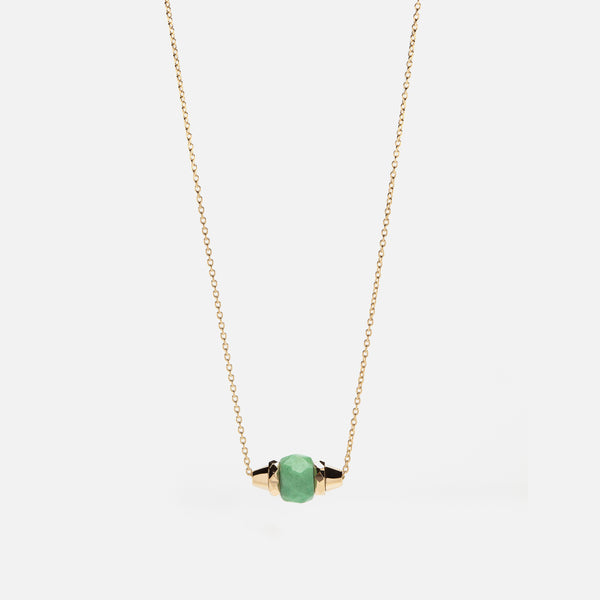 Ruby & Friends Necklace in Yellow Gold with Jade
