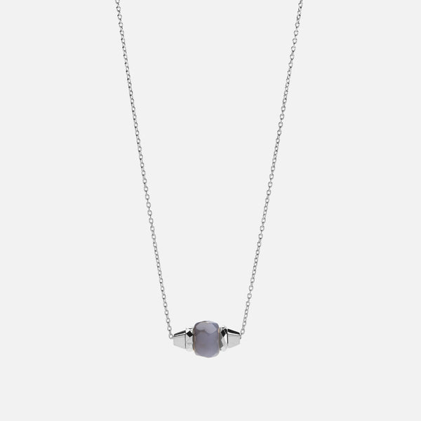 RUBY & FRIENDS NECKLACE IN White GOLD WITH Moon stone - Al Zain Jewellery