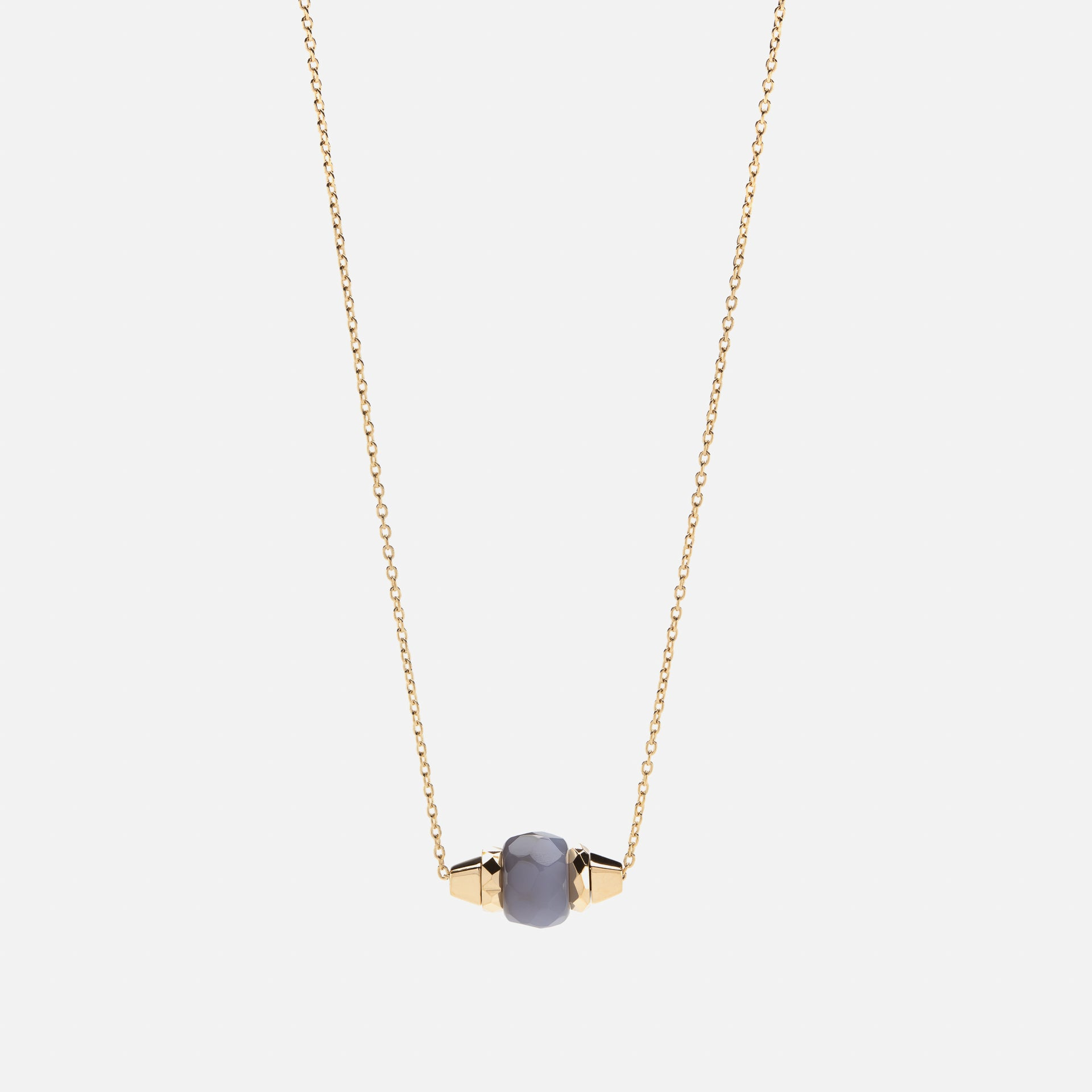 Ruby & Friends Necklace in Yellow Gold with Moon stone - Al Zain Jewellery