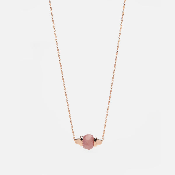Ruby & Friends Necklace in Rose Gold with Yamanasate - Al Zain Jewellery
