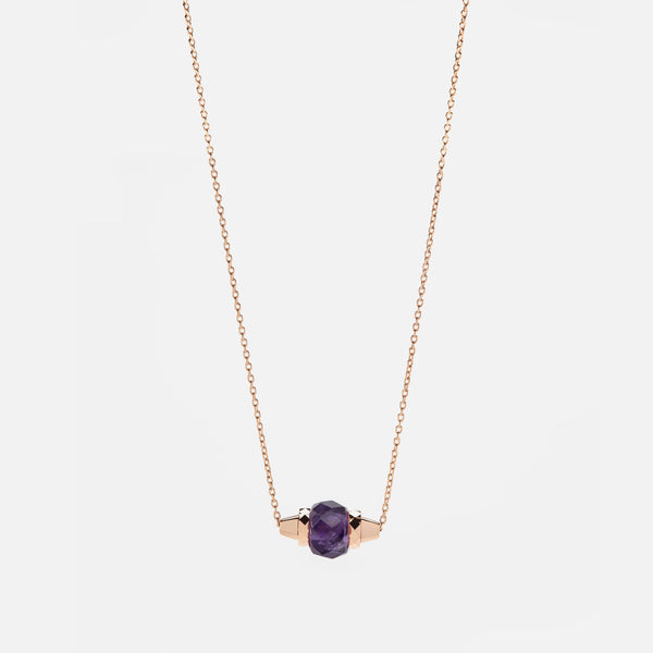 Ruby & Friends Necklace in Rose Gold with Amethyst