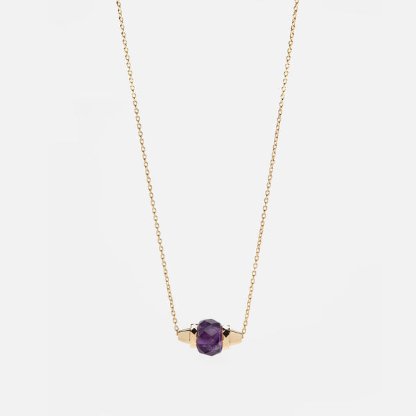 Ruby & Friends Necklace in Yellow Gold with Amethyst