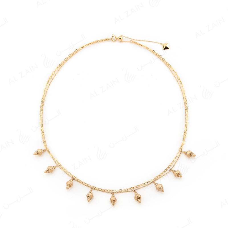 Al Merriyah Necklace in Yellow Gold - Al Zain Jewellery