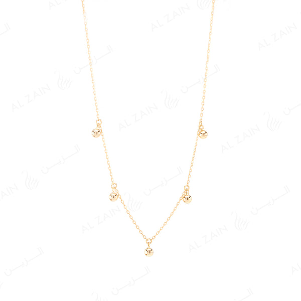 Kids gold ball necklace in yellow gold - Al Zain Jewellery