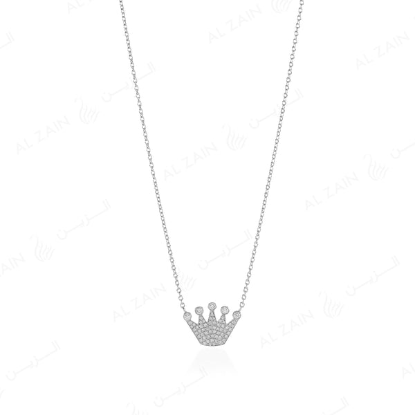 My Princess Necklace in White Gold with Diamonds - Al Zain Jewellery
