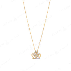 My Princess Necklace in Yellow Gold with Diamonds - Al Zain Jewellery