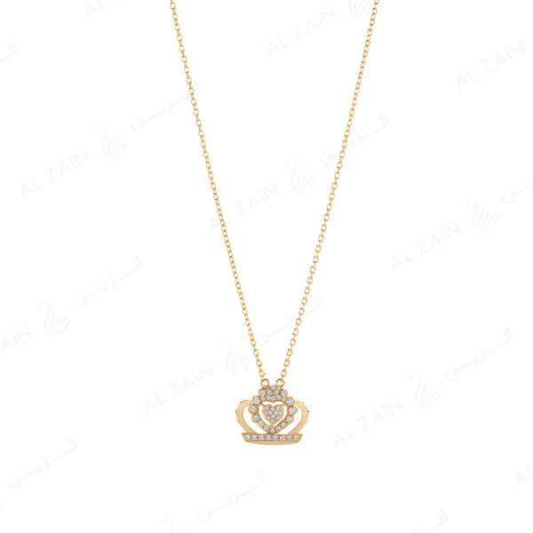 My Princess Necklace in Yellow Gold with Diamonds