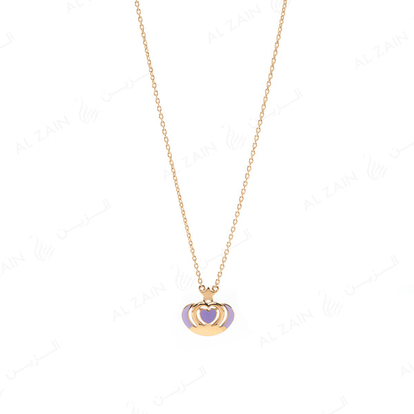 My Princess Necklace in Yellow Gold with Enamel