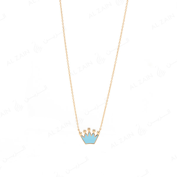 My Princess Necklace in Yellow Gold with Enamel - Al Zain Jewellery