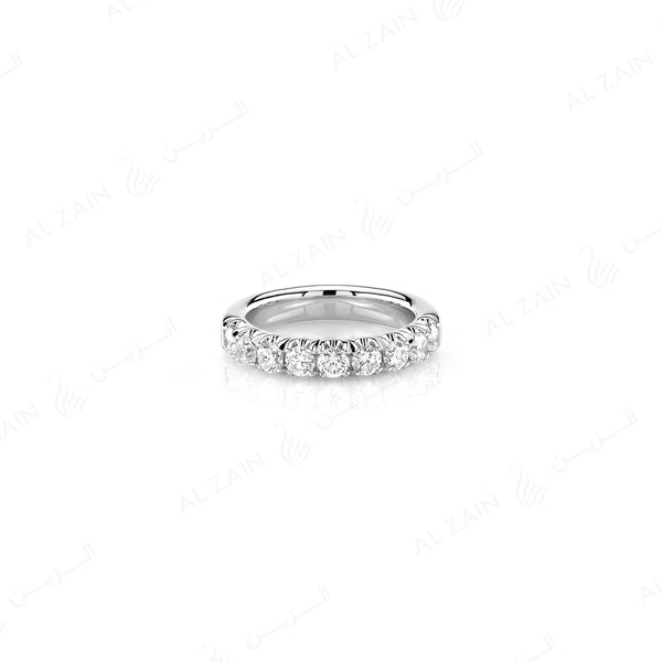 Wedding Band in White Gold