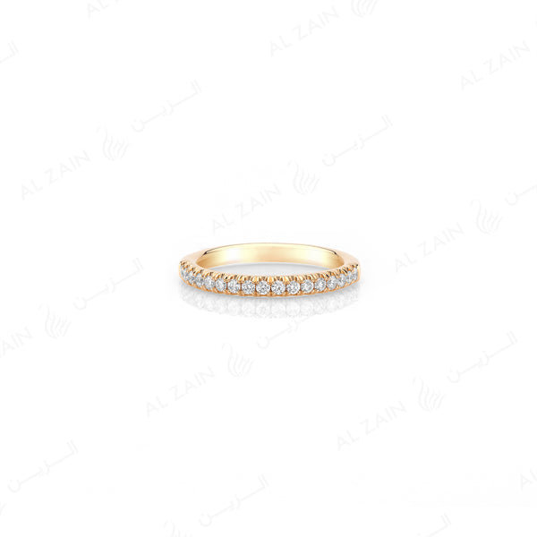 Wedding Band in Yellow Gold