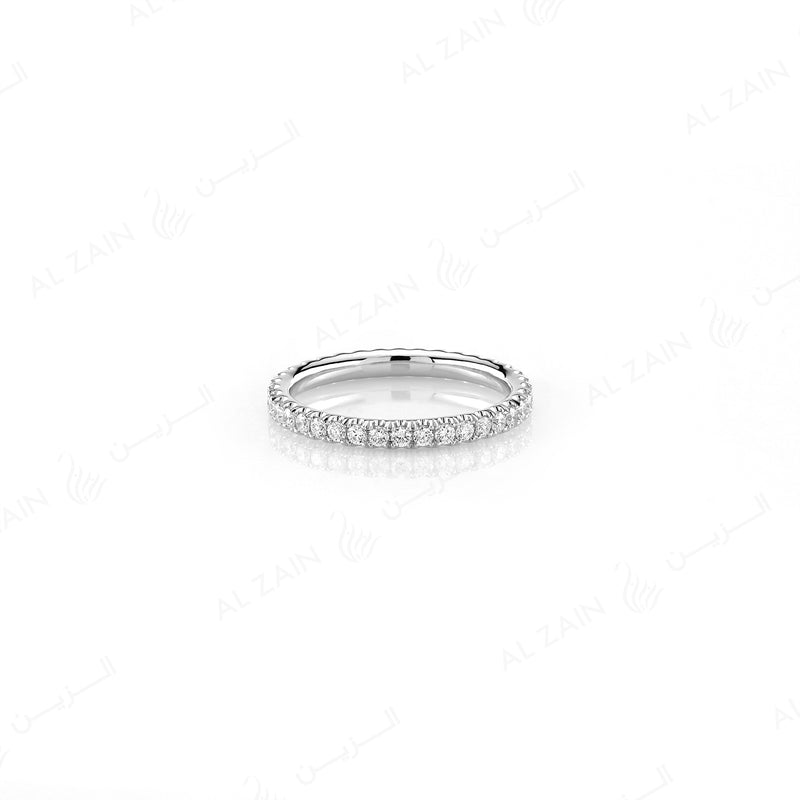 Wedding Band in White Gold - Al Zain Jewellery