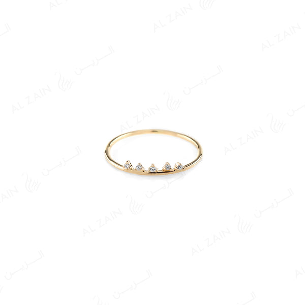 Melati Crown Ring in Yellow Gold with Diamonds