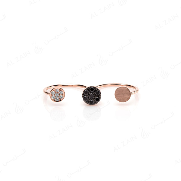 Rose Gold Dusk till Dawn Ring with Diamonds